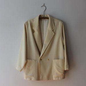 Vintage Steilmann Cream Wool Blazer
